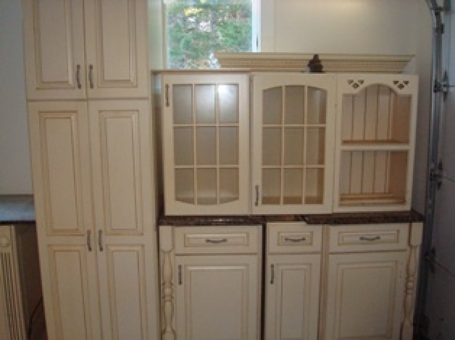 Complete kitchen cabinets granite and sink setup maine for Complete kitchen cupboards