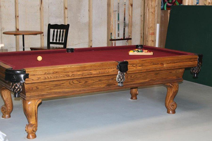 Billiardstable ping pong table georgia ellijay 1000 for Oak beauty pool table