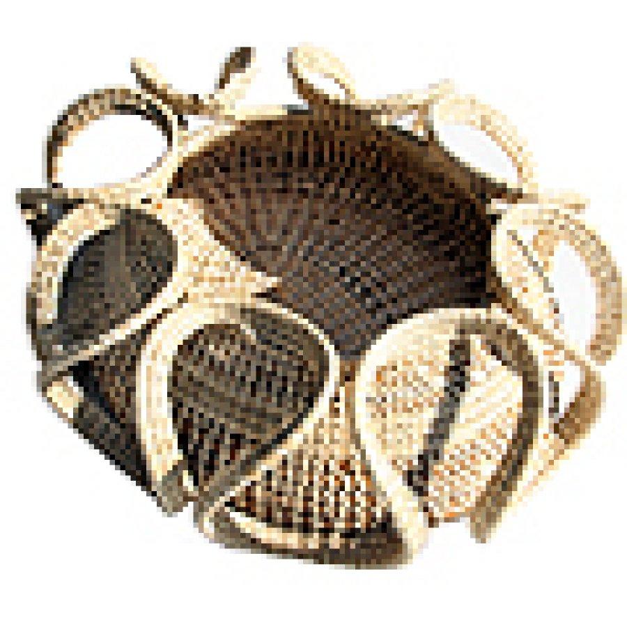 Handmade Baskets In Charleston : Quality handmade sweetgrass baskets by charm usa