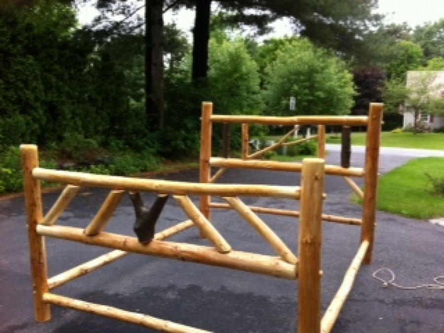 Adirondack queen log bed frame new york queensbury items for sale deal classified ads - Adirondack bed frame ...