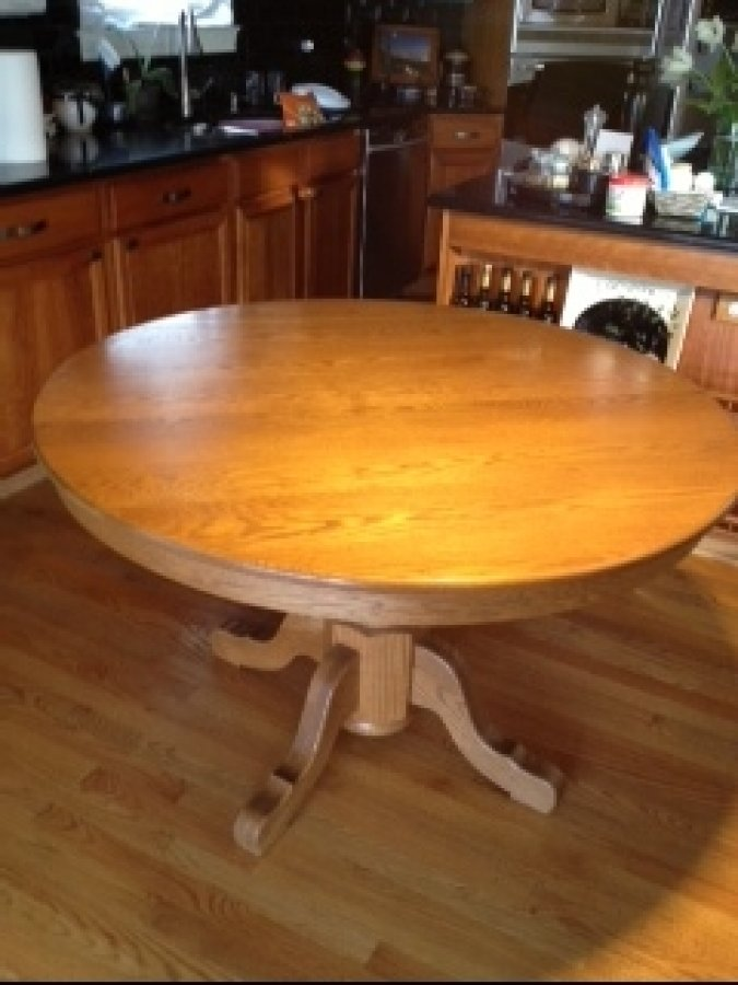 Amish Oak Table And Chairs Hickory Or Rustic