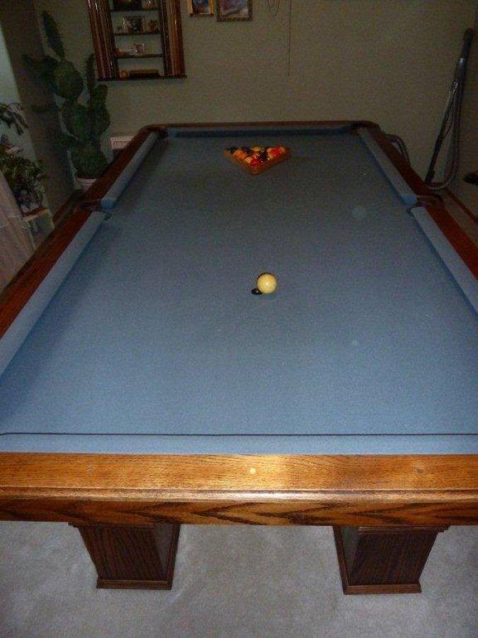 Hand crafted custom regulation oak pool table kent kent for Oak beauty pool table