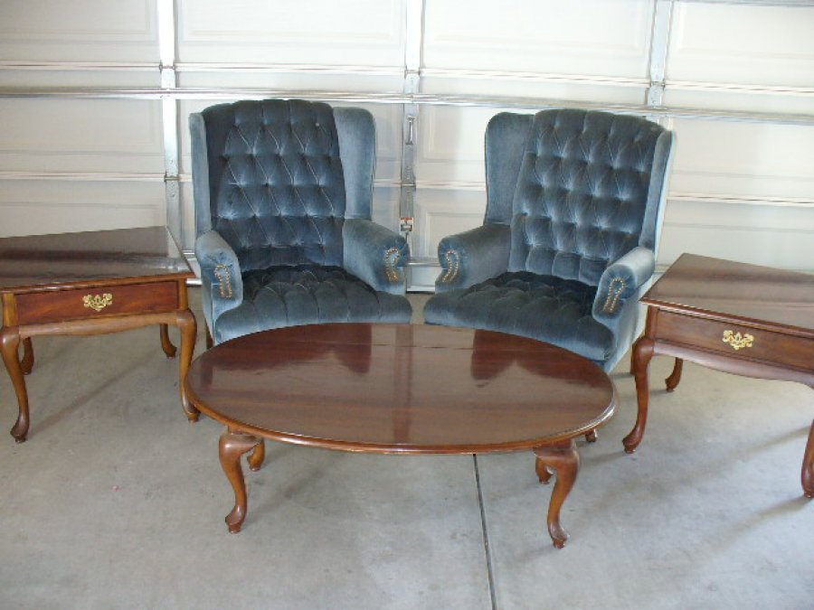 English colonial high back chairs with coffee table and for Coffee tables 24 high