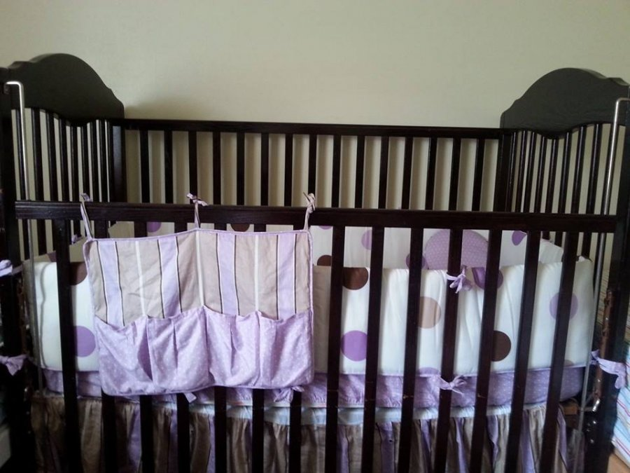 Chocolate Brown Baby Crib And Mattress For Sale