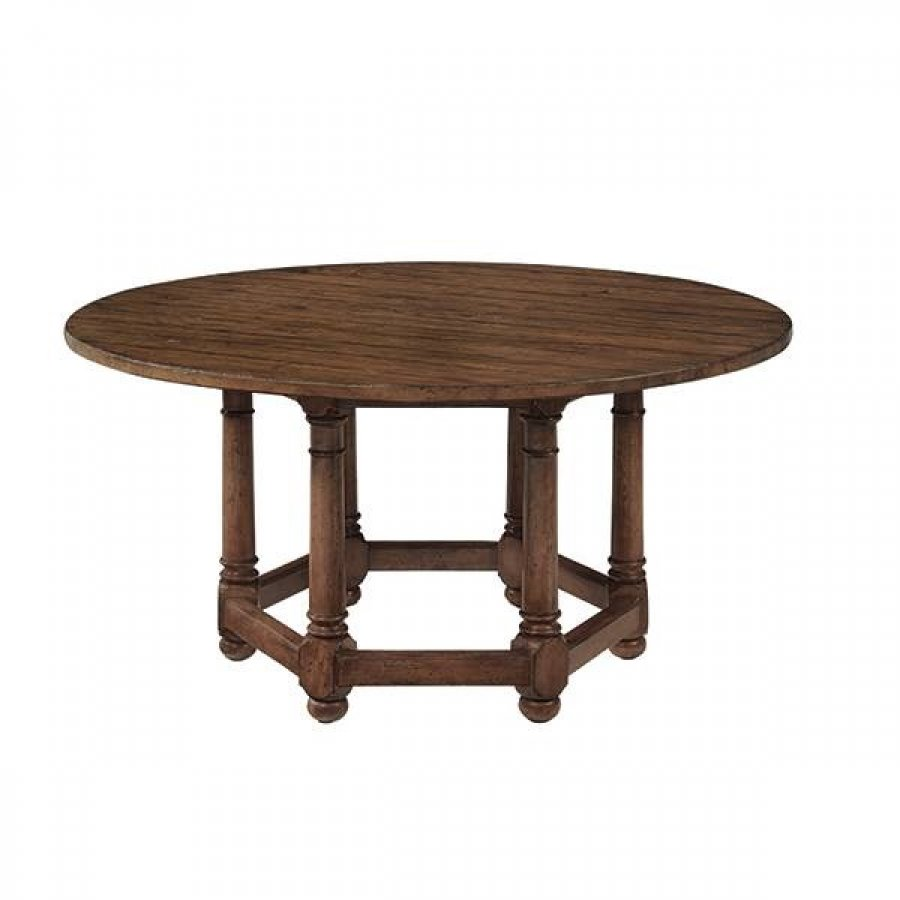Vintage patina round dining table by bernhardt furniture for Bernhardt furniture for sale