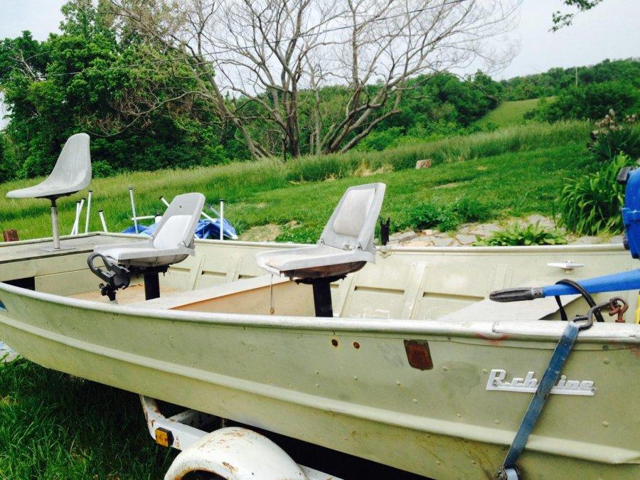 Richline 16 Flatbottom Quot John Quot Aluminum Bass Fishing Boat