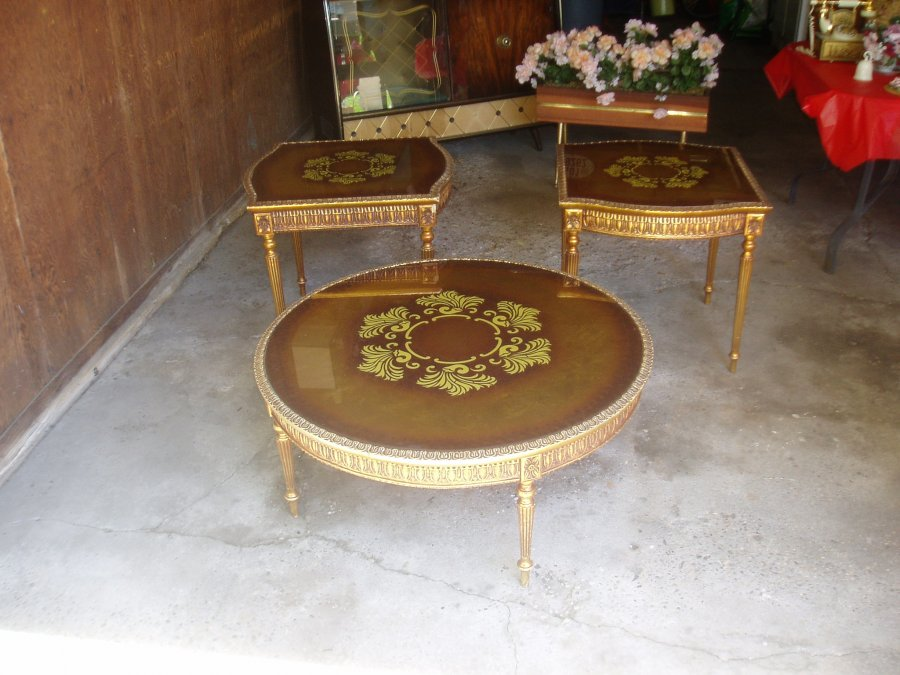 Vintage living room tables new york patchogue home and Antique side tables for living room