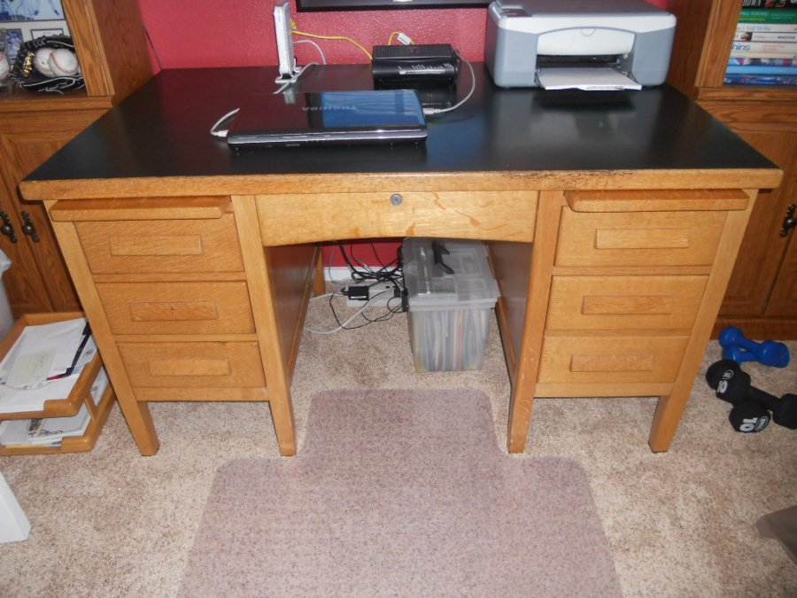Solid Oak Office Desk Tacoma Lacey Wa 100 Home And