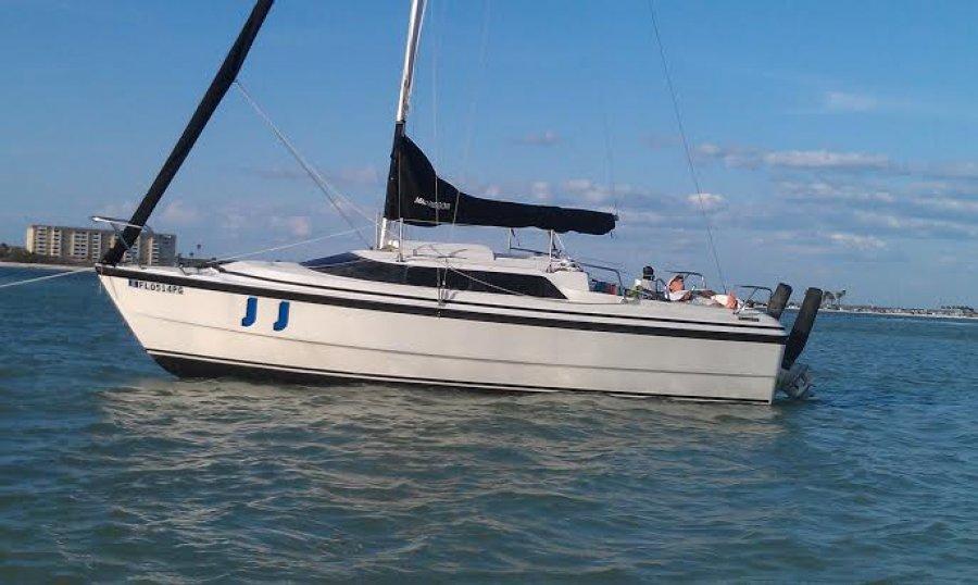 1999 Macgregor 26x Sailboat W Honda 50 Hp Engine