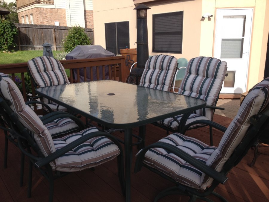 Outdoor Patio Table Chairs 6 Obo San Antonio North Central Home And Furnitures