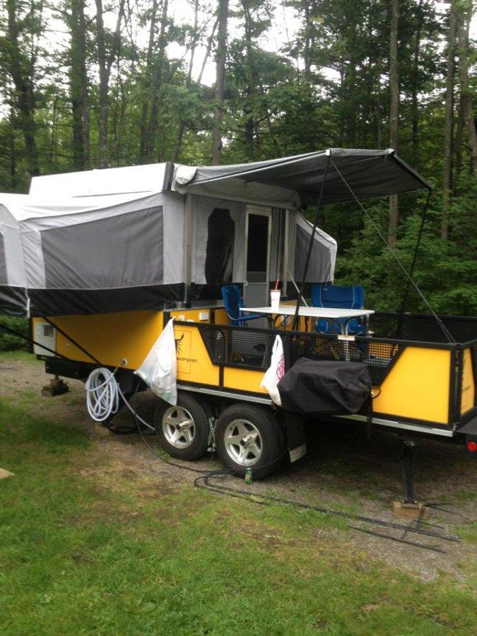 Forced Air Propane Heater >> Fleetwood Scorpion 2 Pop-up Toyhauler | Massachusetts ...