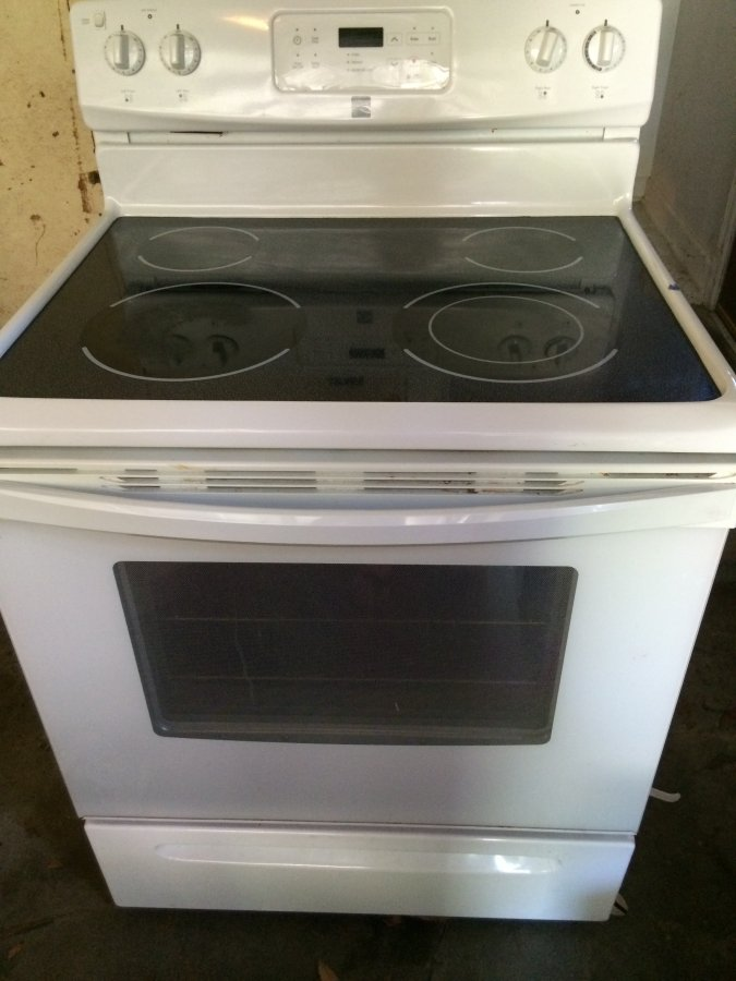 Glass Top Electric Stove ~ Kenmore electric glass top stove wichita pawnee and