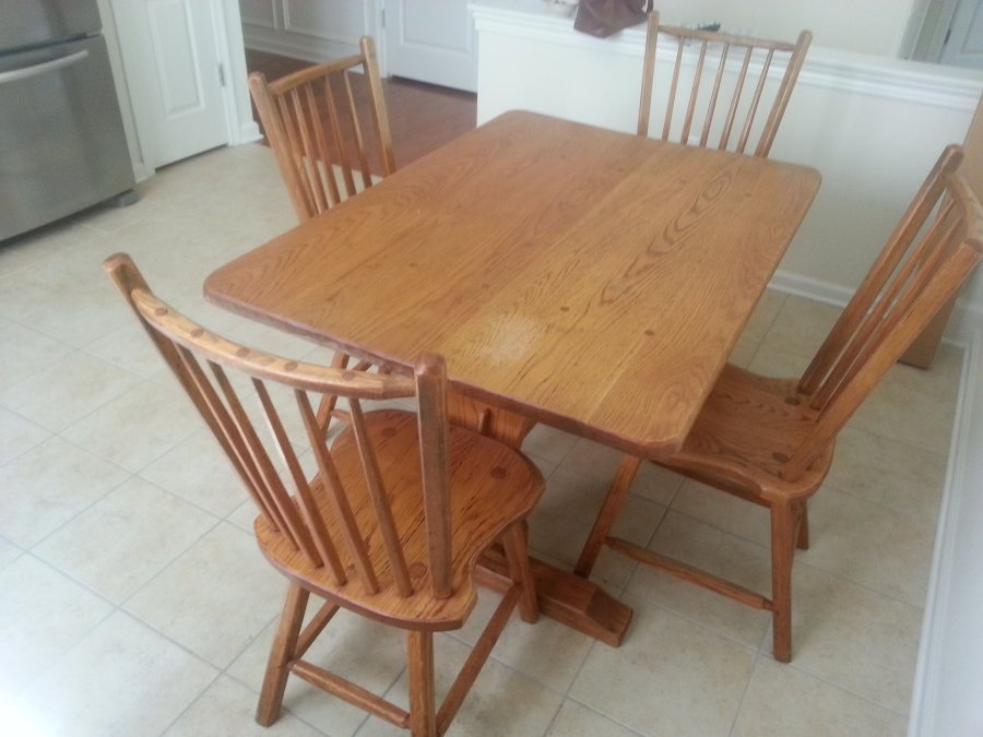 Solid oak table 4 chairs new york carmel home and for 1 oak nyc table prices