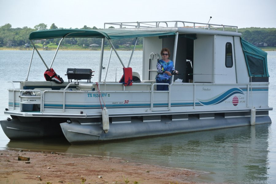 30 39 pontoon boat with trailer fort worth fort worth for Pontoon boat without motor for sale