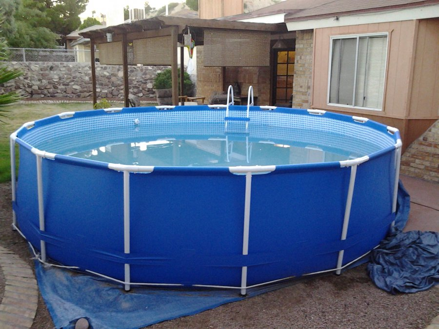 Above Ground Swimming Pool 15 39 X 42 Texas 743 Moffat Lane El Paso Tx 79912 225 Lawn And