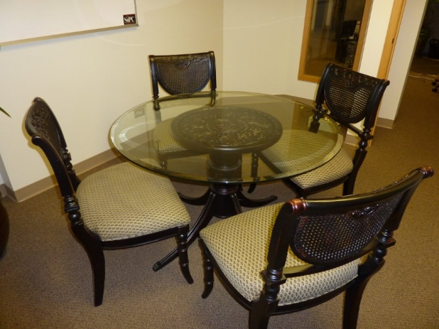 Glass Dining Table With 4 Chairs Bellevue Kirkland