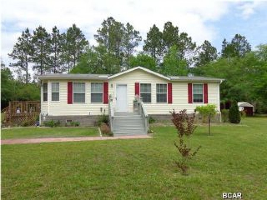 3 Bedroom 2 Bath Double Wide On 2 Acres In Panama City Fl Florida Panama City Mobile Home