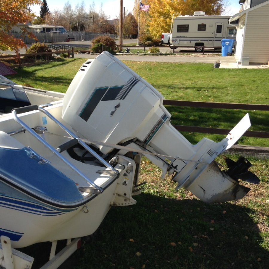 1988 16 Ft Sea Ray Open Bow Boat With 100 Hp Outboard