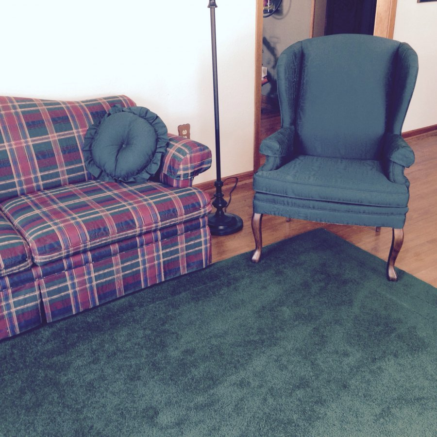 Throw Rugs On Sofas: Sofa, Matching Chairs And Area Rug