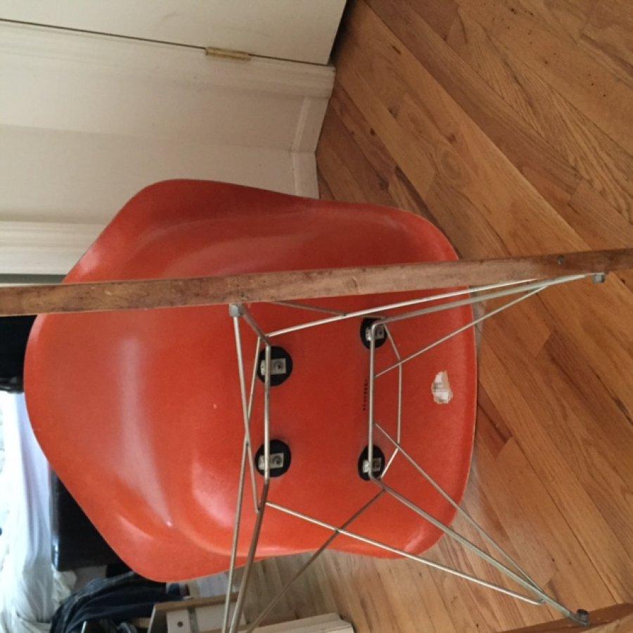 Vintage Eames Herman Miller Fiberglass Armchair Rocker