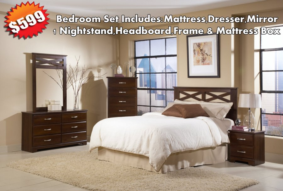 599 bedroom set mattress set houston home and for Overstock furniture and mattress houston