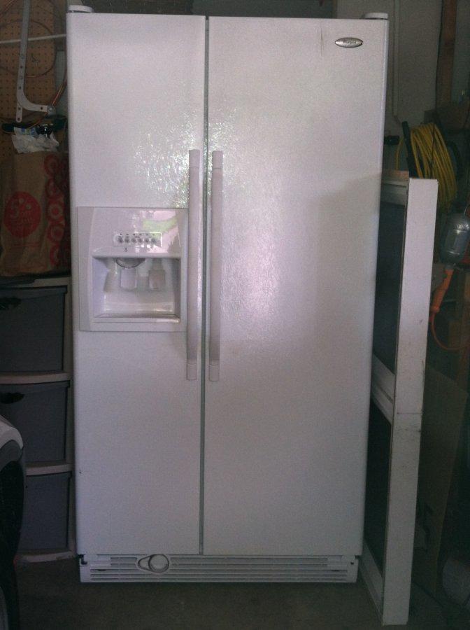 Whirlpool Refrigerator Side By Side 25 Cf White Door