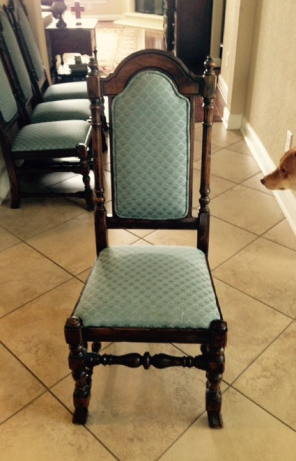 ethan allen oak dining room chairs excellent condition for