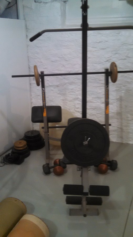 Weight Bench And Full Set Of Weights Great Price Cincinnati 45246 Home 55 Sporting Goods
