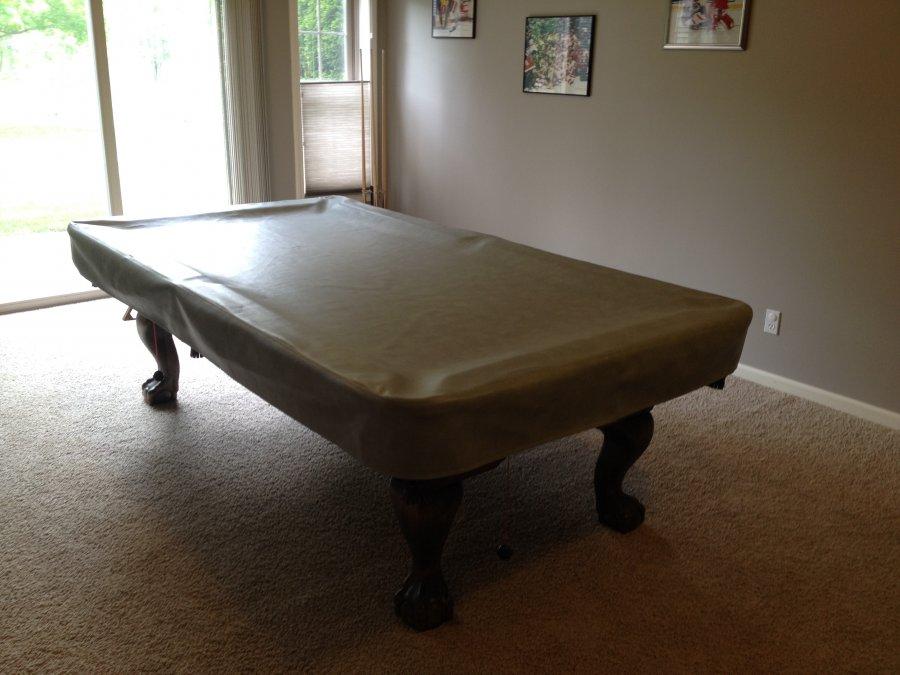 Pool table solid oak lansing 48842 holt mi 500 for Oak beauty pool table