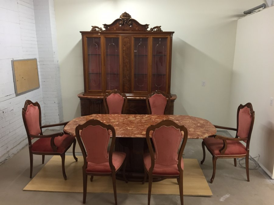 italian luxury dining room set lacquered rosewood with
