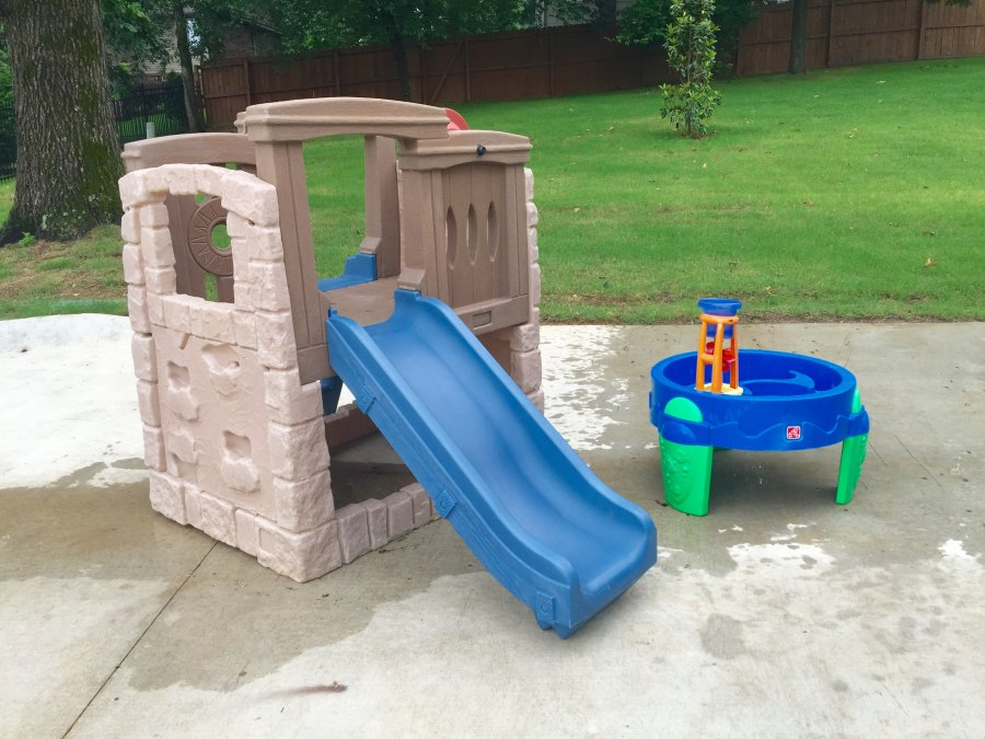 step 2 kids climber slide playhouse water play table great condition used arkansas 72712. Black Bedroom Furniture Sets. Home Design Ideas