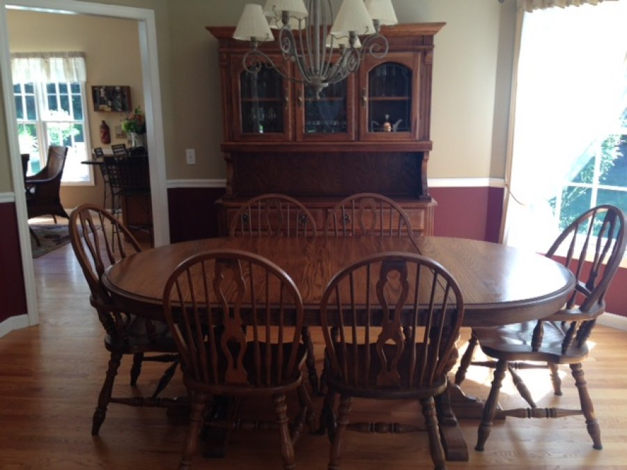 Temple stuart solid oak dining room set new haven 06443 madison 1199 home and furnitures - Oak dining room sets for sale ...