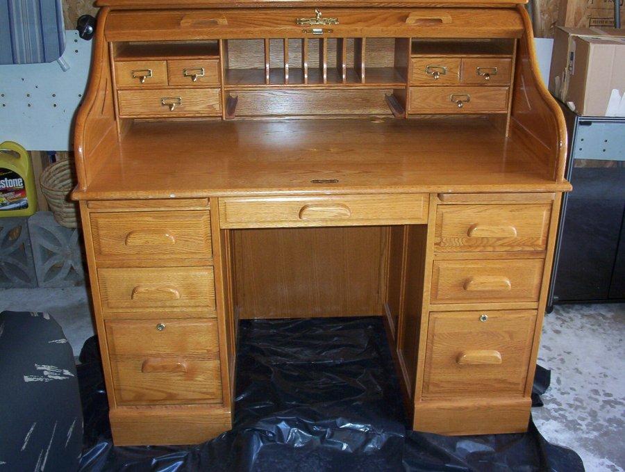 All oak Winners ly Inc roll top desk