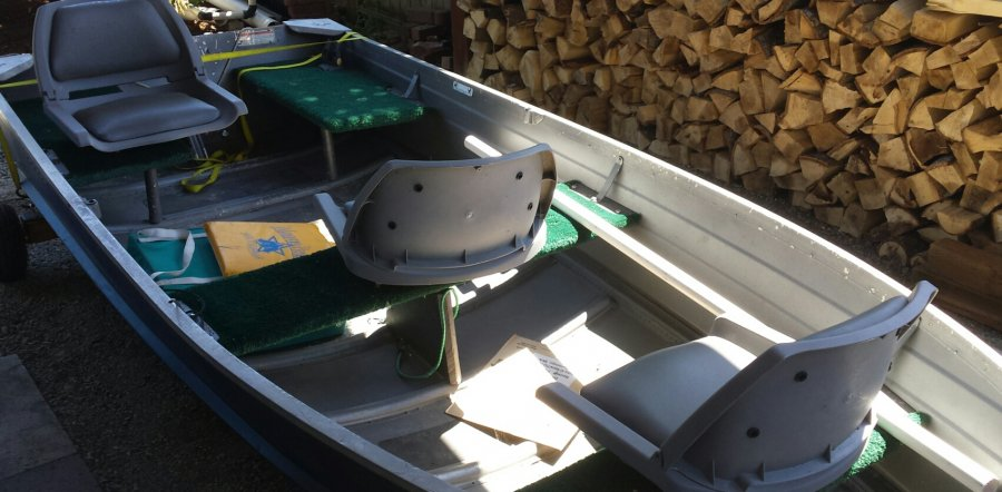 12 39 Aluminum Boat With 15hp Motor Electric Trolling Motor