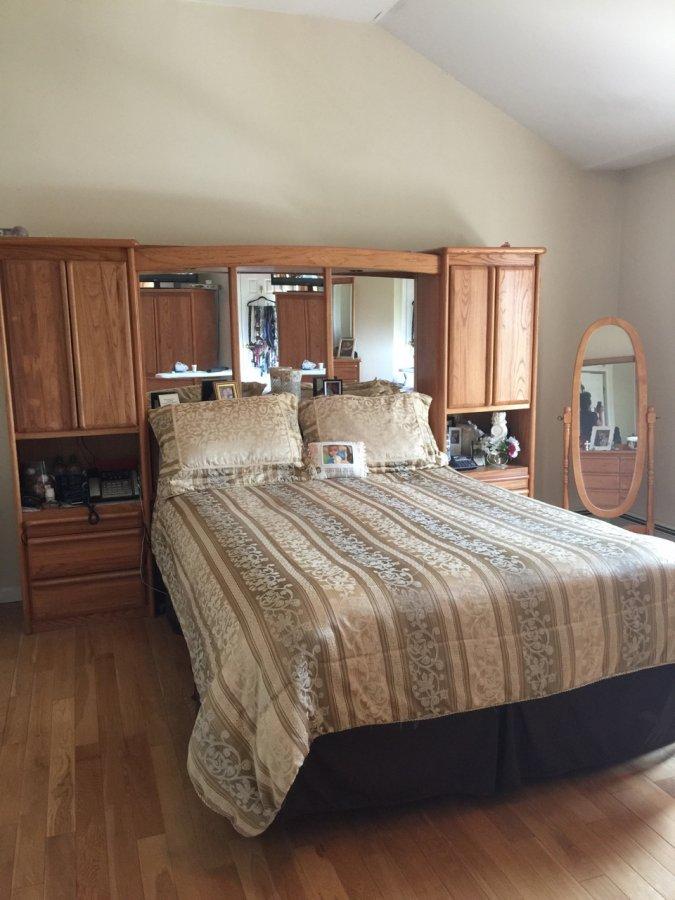 queen size bedroom set includes lighted bridge tower armoire dresser