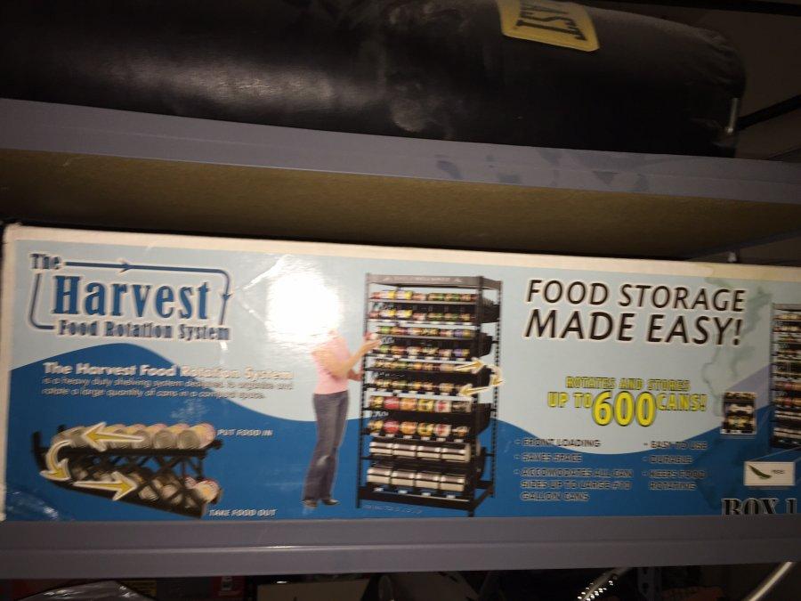 Harvest Shelf Reliance Food Rotation System 200 Shelf