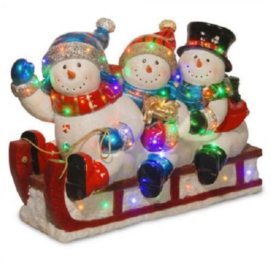 Quality resin quot outdoor snowmen snowman christmas sled