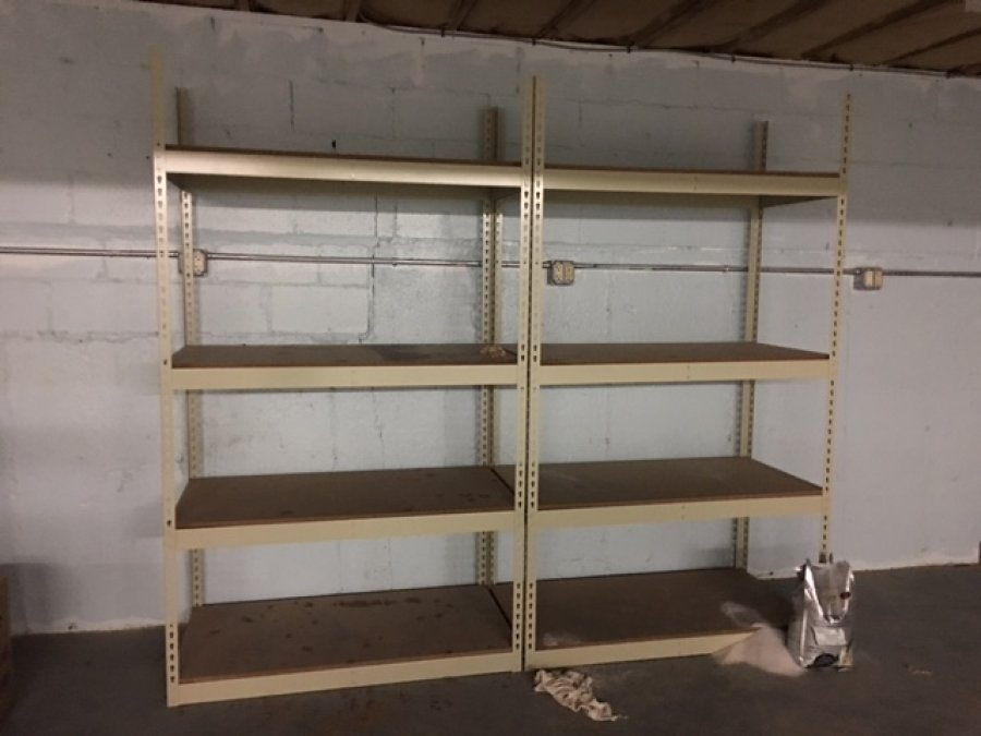 heavy duty shelving two for sale providence 02806 east. Black Bedroom Furniture Sets. Home Design Ideas