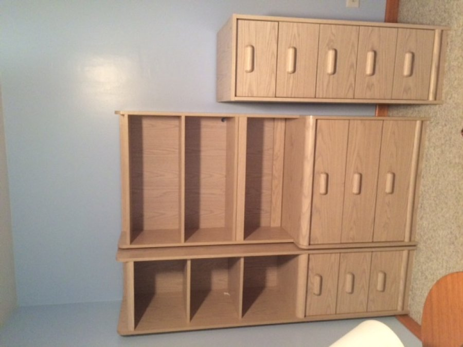 dresser with shelves hutch and vertical drawers
