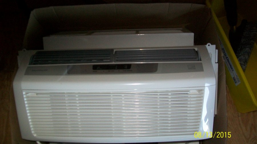 Two 6k air conditioners low profile one new one old 150 Low profile air conditioner