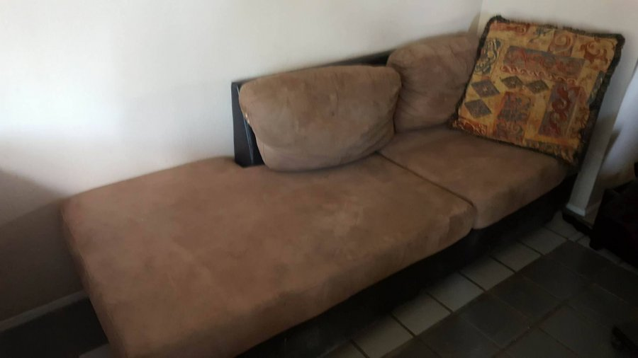 Tan suede and black leather like couches tucson 85719 for Suede couches for sale