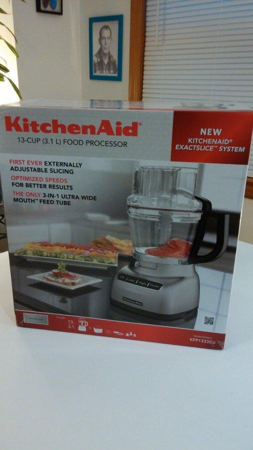 new in box kitchen aid food processor model kpf133cu 13 cups jersey city 07002 bayonne nj. Black Bedroom Furniture Sets. Home Design Ideas