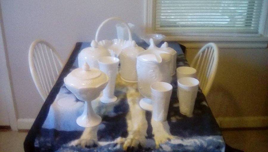 vintage gl vases in bulk with Milk Glass Collection on 231934 likewise Milkglass Vase besides Square Glass Vases in addition Candy Buffet Jars moreover Glass Wastebasket.