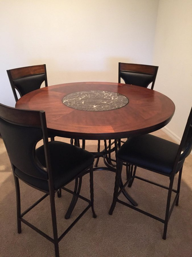 pictures for this durable counter height dinette set with 4 chairs