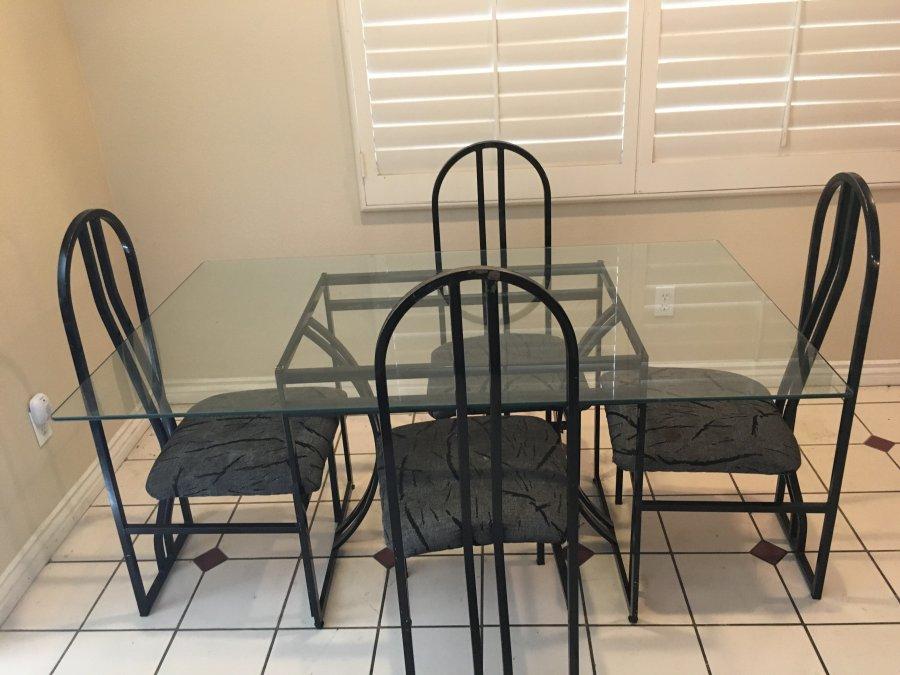 Dining Room Set W Glass Table 225 Irvine 92606 Home And Furniture
