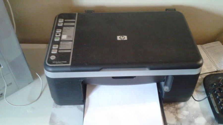 used hp deskjet f4180 all in one inkjet color printer. Black Bedroom Furniture Sets. Home Design Ideas