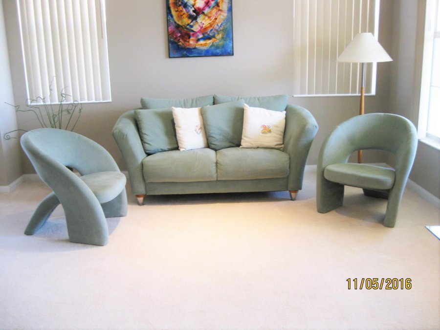 Living room contemporay furniture loveseat two side for Living room chairs for sale