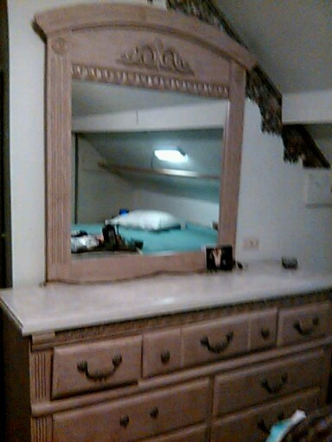 beautiful bedroom set all wood with mirror 3 pieces mens chest