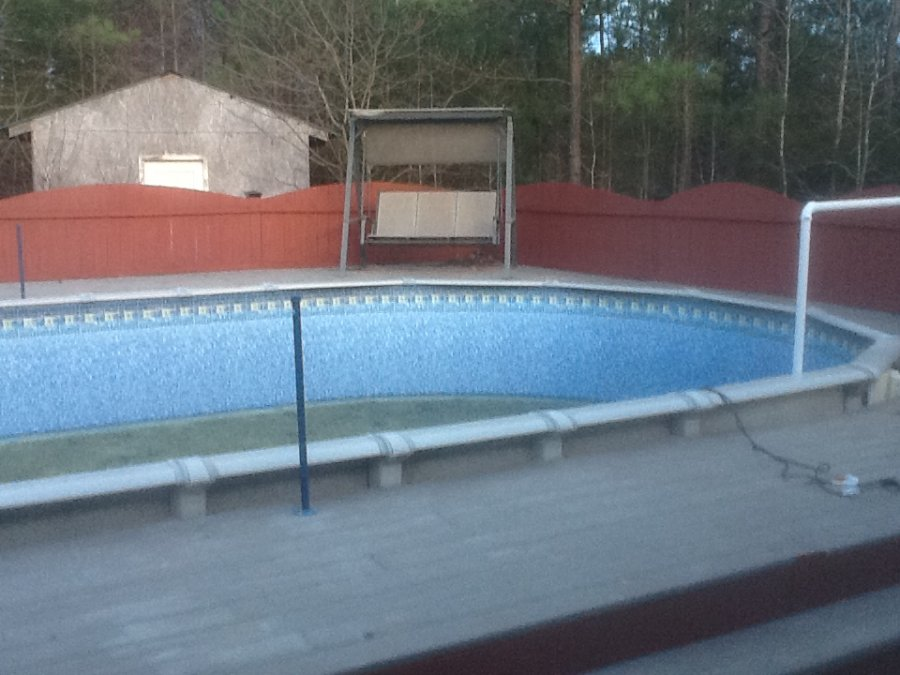 Above ground pool and deck columbia 29075 little for Above ground pool decks for sale