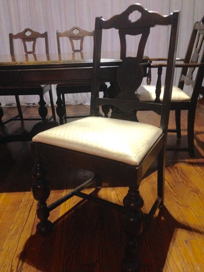 Antique Mahogany Dining Table And 6 Chairs Oklahoma City